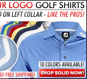 FootJoy ProDry Performance Lisle Tour Logo Golf Shirts with Knit Collar