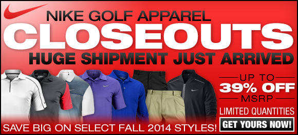 Nike Golf Apparel Closeouts Just Arrived