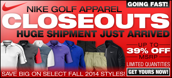 Nike Golf Apparel Closeouts Going Fast