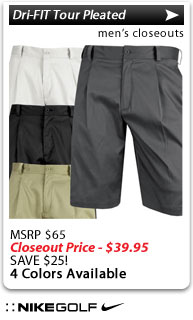 Nike Dri-FIT Tour Pleated Golf Shorts - CLOSEOUTS