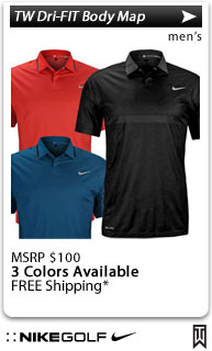 Nike Tiger Woods Dri-FIT Body Map Golf Shirts