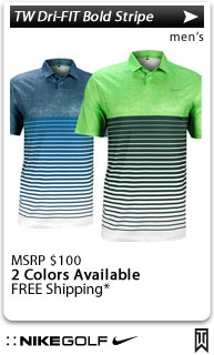 Nike Tiger Woods Dri-FIT Bold Stripe Golf Shirts