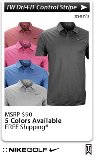 Nike Tiger Woods Dri-FIT Control Stripe Golf Shirts