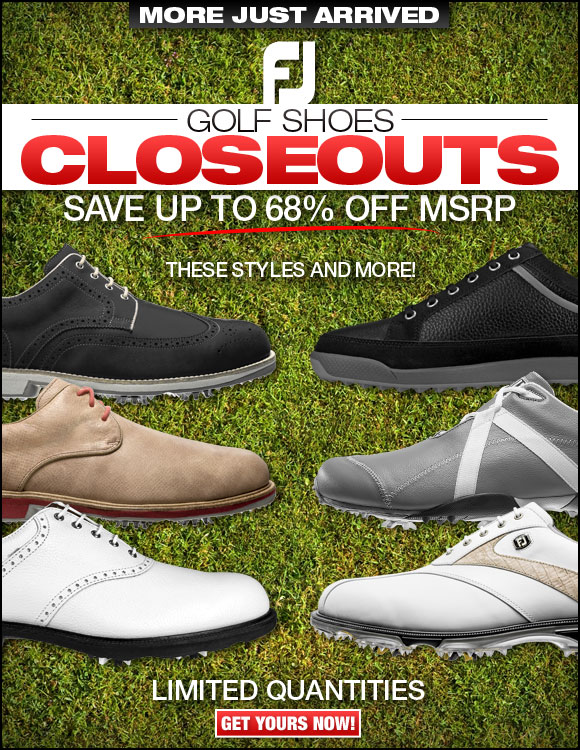 FJ Golf Shoes Closeouts Just Arrived