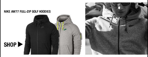 Nike AW77 Full-Zip Golf Hoodies - Nike Golf Club Collection