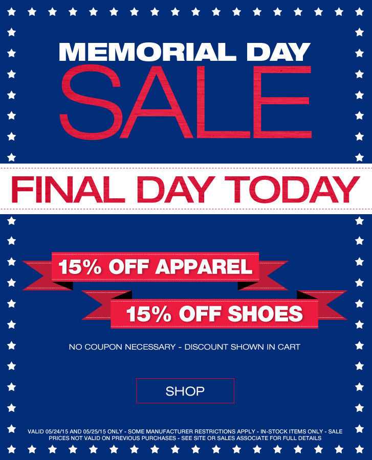 Huge Memorial Day Sale at Golf Locker - Final Day Today