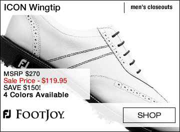 FJ ICON Wingtip Golf Shoes - CLOSEOUTS