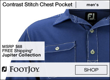 FootJoy Contrast Stitch Self Collar Chest Pocket Golf Shirts - Jupiter Collection
