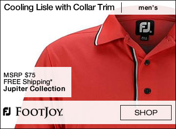 FootJoy Cooling Lisle Solid Placket with Collar Trim Golf Shirts - Jupiter Collection