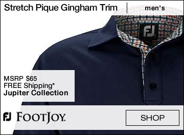 FootJoy Stretch Pique Gingham Trim Self Collar Golf Shirts - Jupiter Collection