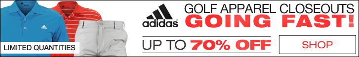 Adidas Golf Apparel Closeouts Going Fast