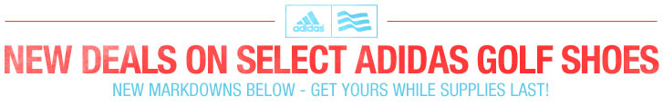 New Markdowns on Select Adidas Golf Shoes