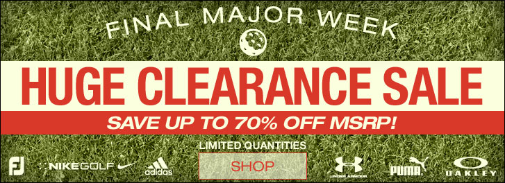 Final Major Week Huge Clearance Sale at Golf Locker