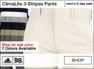 Adidas ClimaLite 3-Stripes Golf Pants - TWO DAY SALE