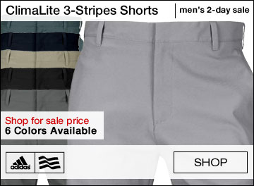 Adidas ClimaLite 3-Stripes Golf Shorts - TWO DAY SALE