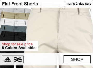Adidas Flat Front Golf Shorts - TWO DAY SALE