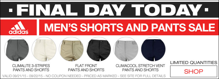 Final Day - Adidas Men's Shorts and Pants Sale