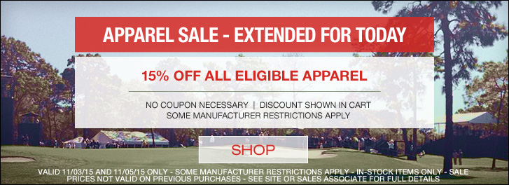 Final Day - Apparel Sale at Golf Locker