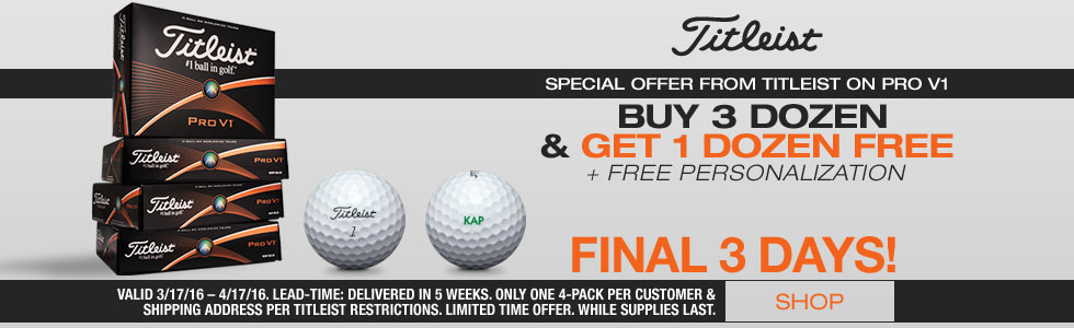Titleist Loyalty Rewarded Promo - Buy 3 Dozen, Get 1 Dozen Free