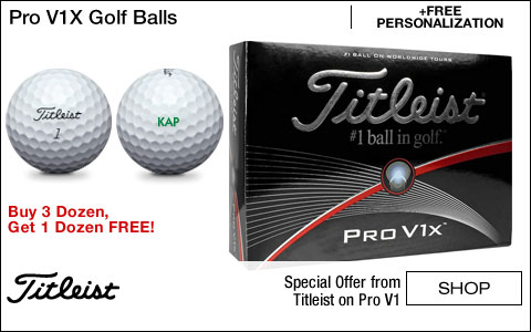 Titleist Pro V1X Personalized Golf Balls - Buy 3, Get 1 Free