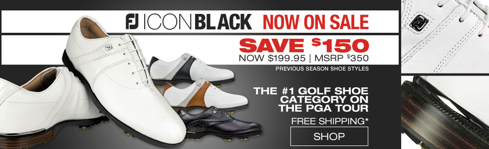 FJ ICON Black Golf Shoes - ON SALE!