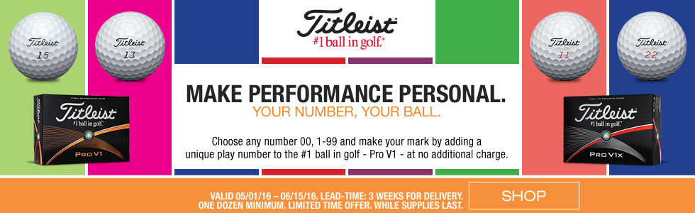Titleist Pro V1 with Free Double Digit Play Numbers Promotion