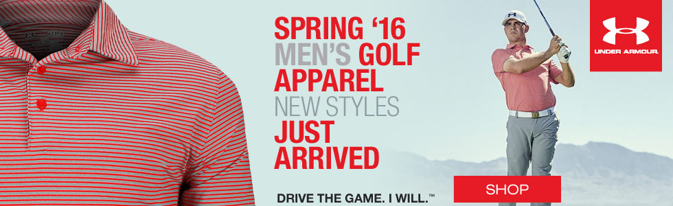 Under Armour Men's Spring Golf Apparel - New Styles Just Arrived