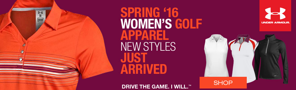 Under Armour Women's Spring Golf Apparel - New Styles Just Arrived