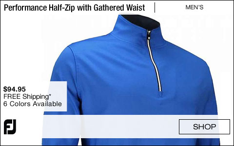 FJ Performance Half-Zip Golf Pullovers with Gathered Waist