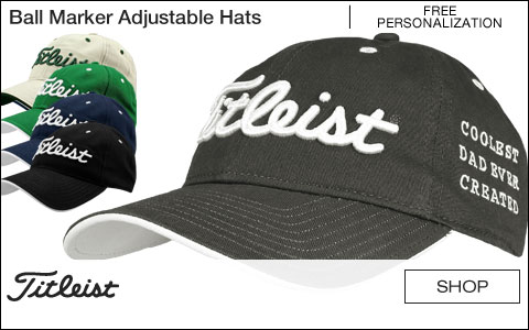 Titleist Ball Marker Adjustable Golf Hats - Free Personalization