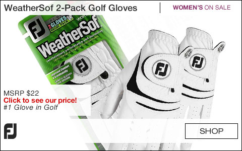 FJ WeatherSof 2-Pack Women's Golf Gloves - ON SALE