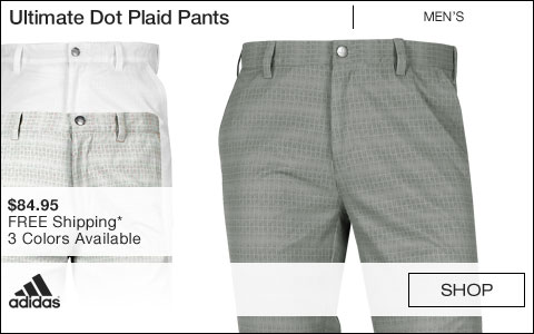 Adidas Ultimate Dot Plaid Golf Pants