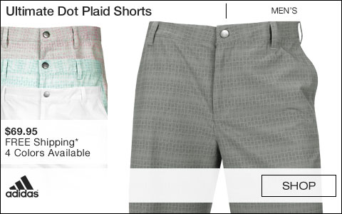 Adidas Ultimate Dot Plaid Golf Shorts