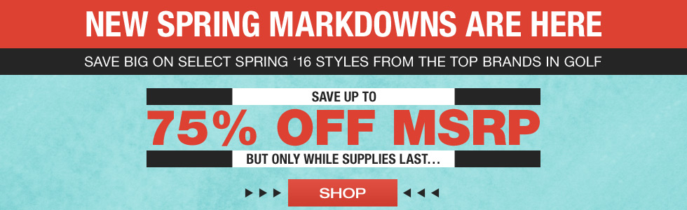 New Spring Markdowns Are Here