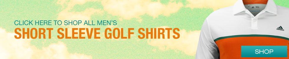 Click Here to Shop All Men's Short Sleeve Golf Shirts