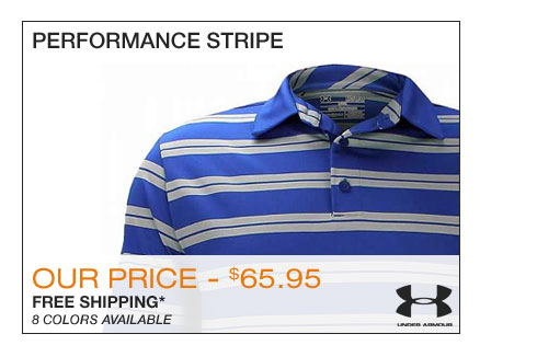 Under Armour Performance Stripe Golf Shirts