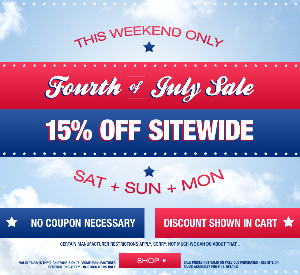 Fourth of July Sale at Golf Locker – Extra 15% Off Sitewide