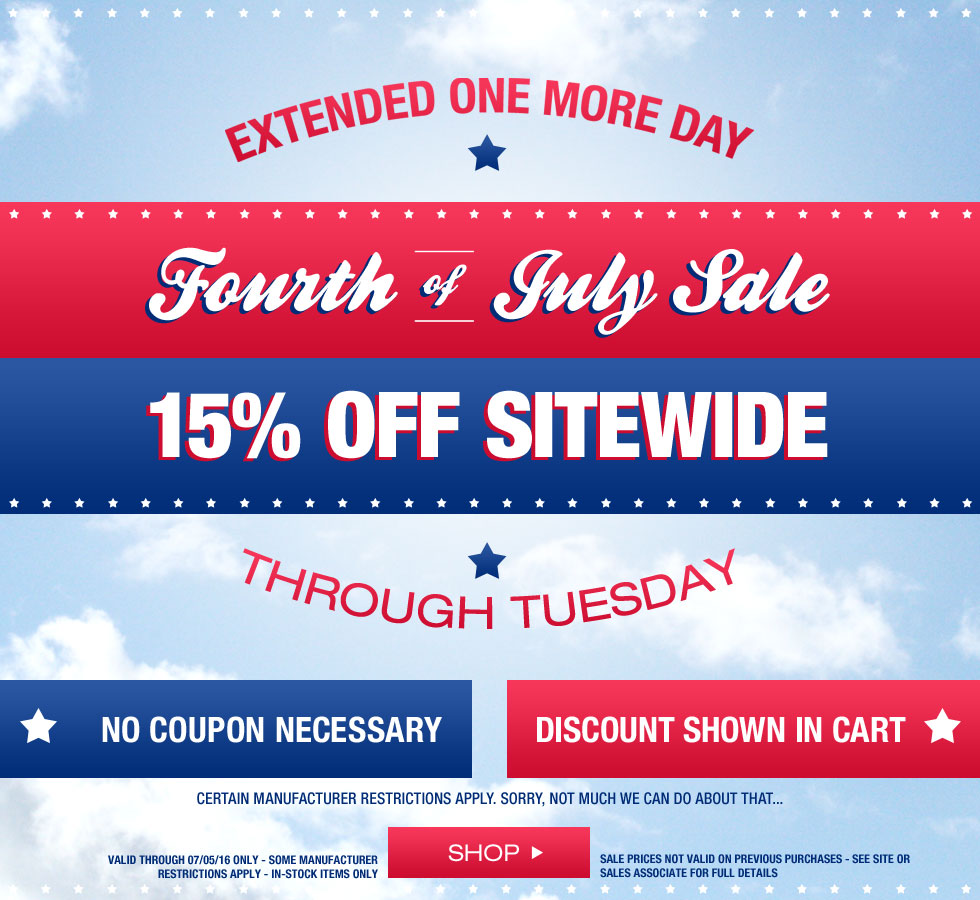 Fourth of July Sale at Golf Locker - Extended One More Day - Extra 15% Off Sitewide