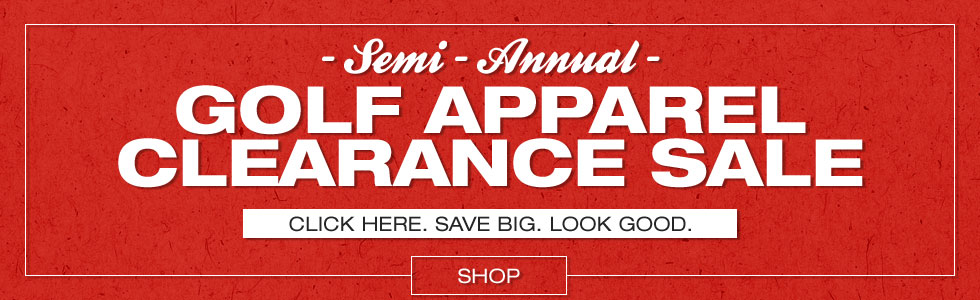 Semi-Annual Golf Apparel Clearance Sale at Golf Locker