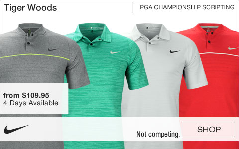 Nike Tiger Woods PGA Championship Golf Shirts