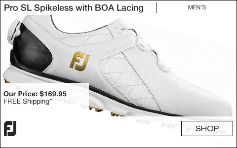FJ Pro SL Spikeless Golf Shoes with BOA Lacing System