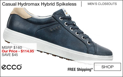 ECCO Casual Hydromax Hybrid Spikeless Golf Shoes - CLOSEOUTS