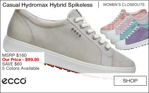 ECCO Casual Hydromax Hybrid Women's Spikeless Golf Shoes - CLOSEOUTS