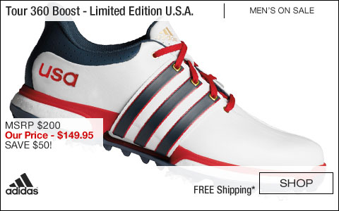 Adidas Tour 360 Boost Golf Shoes - Limited Edition U.S.A. - ON SALE