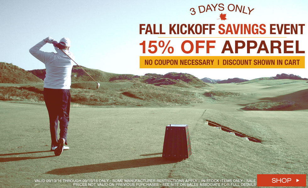 Fall Kickoff Savings Event - 3 Days Only
