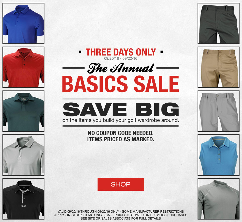 The Annual Basics Sale at Golf Locker