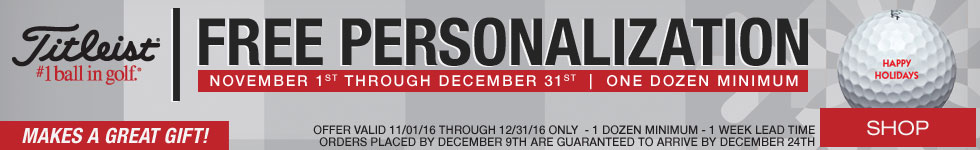 Holiday Free Personalization on Titleist Golf Balls