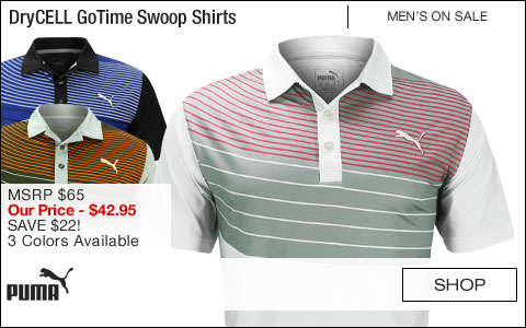 PUMA DryCELL GoTime Swoop Golf Shirts - CLOSEOUTS