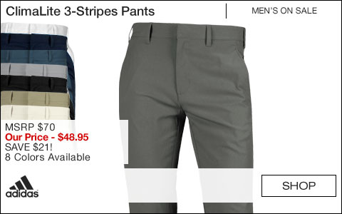 Adidas ClimaLite 3-Stripes Golf Pants - ON SALE