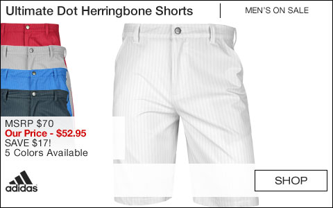 Adidas Ultimate Dot Herringbone Golf Shorts - ON SALE